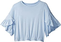 Ruffle Sleeve T-Shirt (Big Kids)