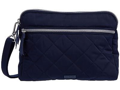 Vera Bradley Performance Twill Triple Compartment Crossbody (Classic Navy) Handbags