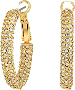 Vince Camuto Pave Hinge Hoop Earrings