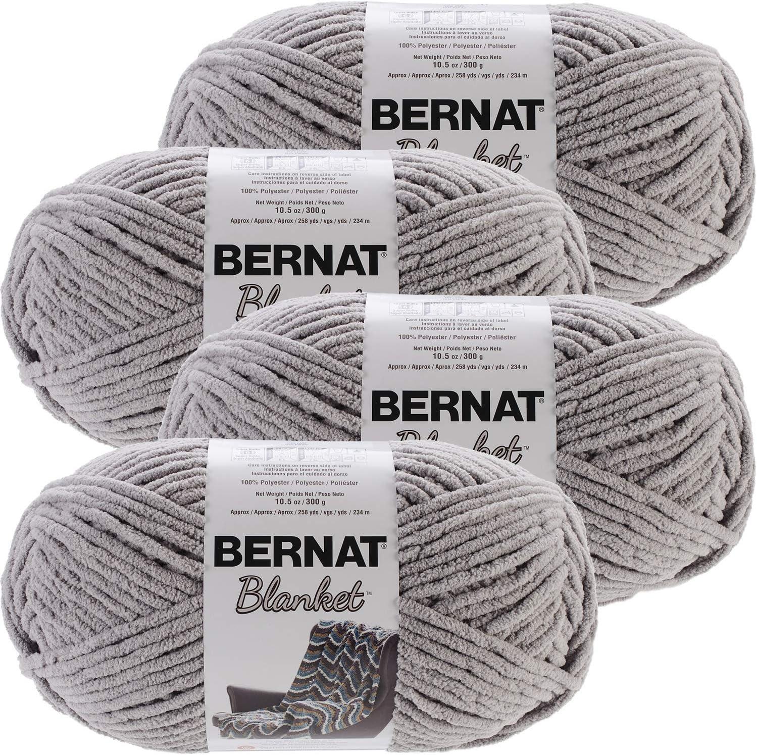 Choice Bernat Blanket Big Ball Yarn Grey Pale Multipack 4 Sales Gray P of