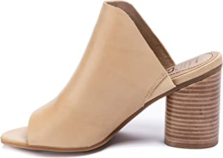Lucca Lane Womens Hilaire Leather Cork Mules