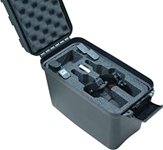 Case Club Universal 2 Pistol Top Loader Case with Silica Gel to Help Prevent Gun Rust