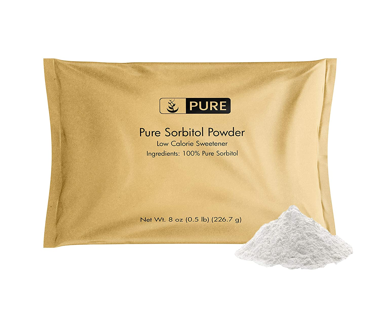 Pure Sorbitol Powder (8 oz) Low-Calorie Sweetener, Sugar Substitute, Thickening Agent