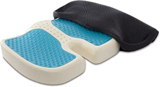TravelMate Coccyx Orthopedic Gel-enhanced Memory Foam Seat Cushion with Non-slip Silicone Coated Fabric (Black)