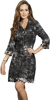 Button Down Tie-Dye Dress, Black and White Dress