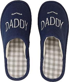 DRUNKEN Mens Canvas Slide Indoor House Slippers Daddy Blue