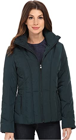 Short Down Coat w/ Untrimmed Hood