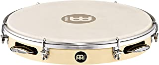 "Meinl Percussion Pandeiro with Poplar Wood, 10"" — NOT MADE IN CHINA — Hand Selected Goatskin Head and Chrome Plated Steel Jingles, 2-YEAR WARRANTY (PA10PW-M)"