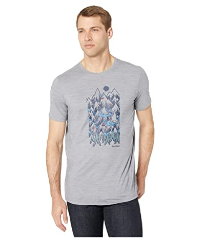 Smartwool Merino Sport 150 Mountain Ventures Tee (Light Gray Heather) Men