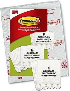 Command Picture Hanging Strips, 8 Small Pairs, 16 Medium Pairs, 8 Large Pairs, PH211-32NA, White