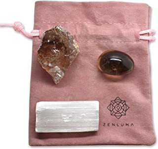 """Zenluma Raw Natural Smoky Quartz Crystal (1.5"""" - 2"""") for Home Decor, Crystal Healing and Mineral Collecting. Raw Crystals,..."""