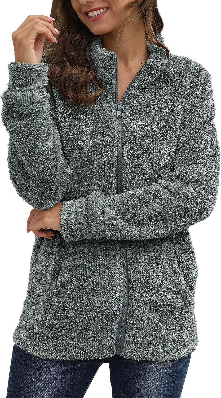 For G and PL Women's Long Sleeve Full Zip Soft Warm Fleece Jacket