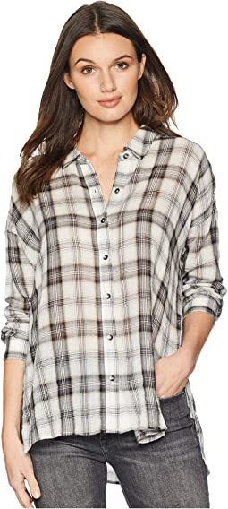 Willow Voile Plaid Button Up