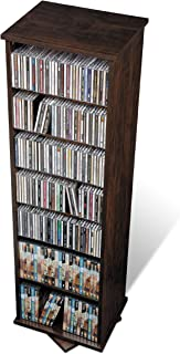 Prepac Two-Sided Spinning Tower Storage Cabinet, Espresso