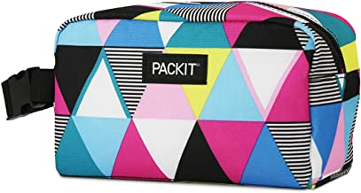 PackIt PKT-SX-TST Freezable Snack Box Bag, Triangle Stripe