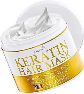 Keratin Hair Mask - Repairs Dry & Damaged Hair - Professional Keratin Hair Treatment with Avocado Oil - Aloe Vera - Vitamin E - Made in USA - Effective Keratin Complex - Anti Frizz (Keratin Hair Mask)