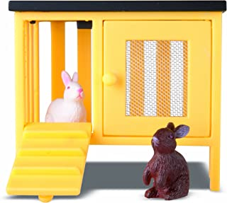 Lundby Smaland Dollhouse 2 Rabbits + Hutch Set