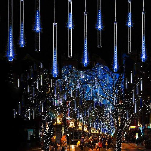 guaiboshi Meteor Shower Rain Lights, LED Falling Rain Drop Lights 11.8inch 8 Tubes SMD2835