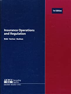 Insurance Operations and Regulation