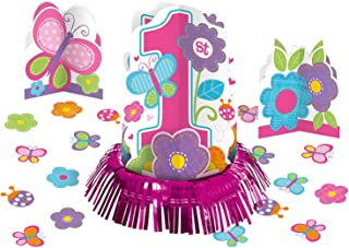 Amscan Party Supplies Sweet Birthday Girl 1st Birthday Table Decorating Kit, Multicolor, Assorted Sizes, 23ct