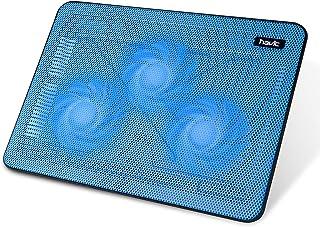 havit HV-F2056 15.6-17 Inch Laptop Cooler Cooling Pad - Slim Portable USB Powered (3 Fans) (Blue)