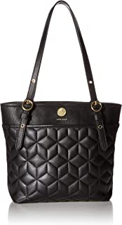 Anne Klein Quilted Geo Cube Pocket Small Tote