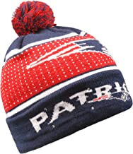 Forever Collectibles NFL New England Patriots Big Logo Knit Light Up Beanie Hat, Multicolor, 10.5