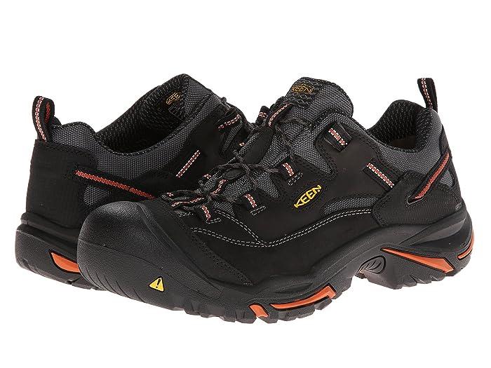 Keen Utility  Braddock Low (Black/Bossa Nova) Mens Work Lace-up Boots