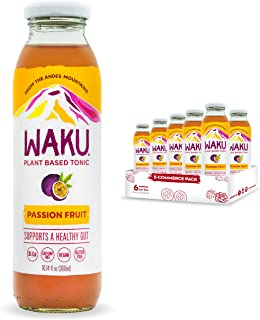 Sponsored Ad - Waku Iced Tea - Passion Fruit - All Natural Herbal Tea Brewed With Mint, Lemon Balm, Lemongrass, Fennel, Ch...
