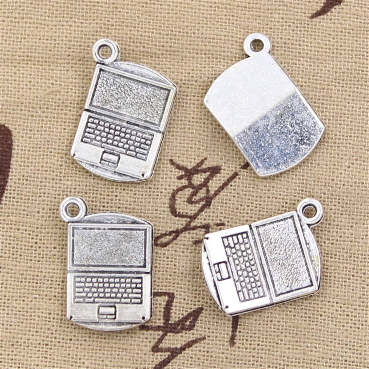 20pcs Direct stock discount Charms Computer 35% OFF Laptop 21x13mm Making Vintage Tibe Antique
