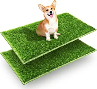 Hompet Dog Grass Pads, Puppy Turf Potty Training Pads, Artificial Turf for Dog Systems Replacement Grass Mats, Easy to Cle...