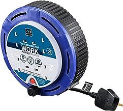 MasterPlug sct0510/4BL Stromverteiler/Kabeltrommel 5 m 4 Sockel 10 Amp klein Kassette Spule mit Thermo Cut Out und Reset Button