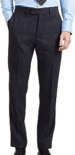 Dobell Mens Grey Donegal Tweed Trousers Regular Fit-52R