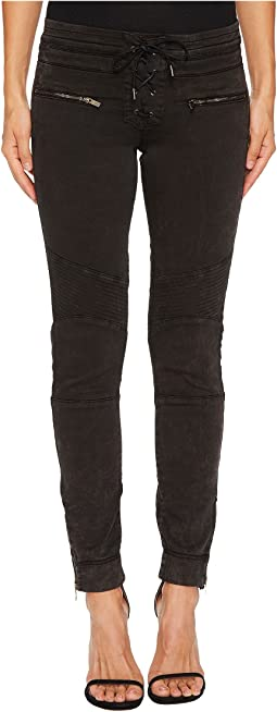 The Kooples - Biker Jeggings with Leather Laces