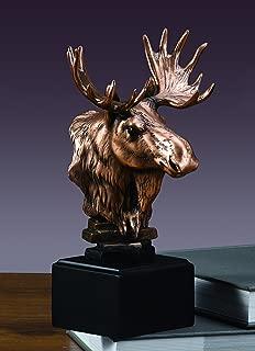 Moose Bust Statue - Moose Head Figurine