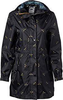 Joules Outerwear Women's Golightly, Black Foil Bee, 4