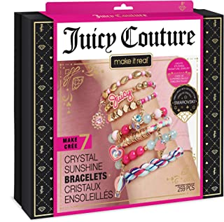 Make It Real – Juicy Couture Crystal Sunshine Bracelets - DIY Charm Bracelet Kit for Teen Girls - Jewelry Making Supplies ...