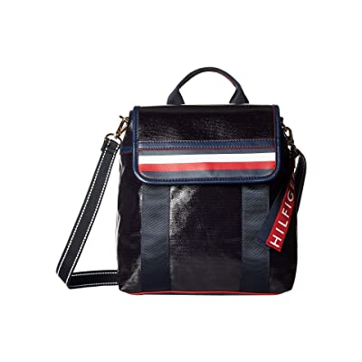 Tommy Hilfiger Viola Coated Canvas Backpack (Tommy Navy) Backpack Bags
