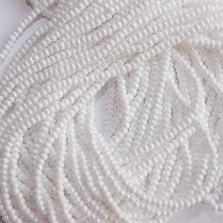 Seed Beads 11/0 Czech White Rainbow Shiny (Full Hank Pack) Glass Beads