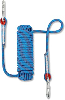 NIECOR 12 MM Outdoor Static Rock Climbing Rope,High Strength Accessory Fire Escape Safety Rappelling Rope 32ft,49ft,64ft,98ft