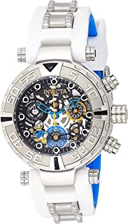 Invicta Disney Subaqua Skeleton Men's Black Dial Silicone Band Watch