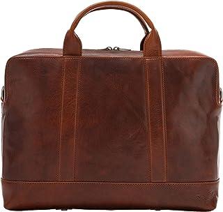 Nuvola Pelle Mens Laptop Bag Business Leather Elegant Briefcase Computer Tablet Case with Shoulder Strap Brown