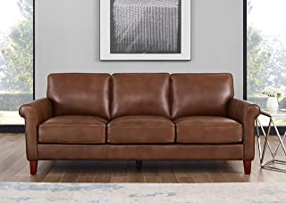 Hydeline Laguna 100% Leather Sofa Set (Sofa, Brown)