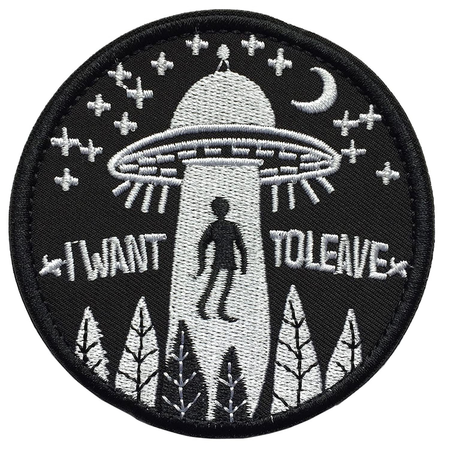 SpaceCar I Want to Leave Military Tactical Morale Decorative Emblem Patch 3.15
