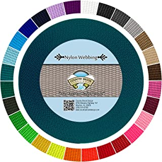 Country Brook Design - Durable 1 Inch Heavy Nylon Webbing - 29 Vibrant Colors (Teal, 10 Yards)