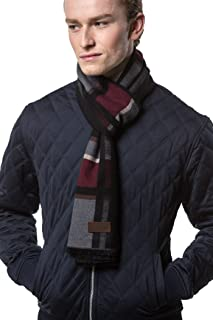 Gallery Seven Mens Scarf - 100% Cotton Winter Scarves fo Men - Elegantly Gift Wrapped