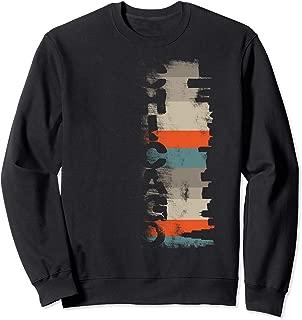 Chicago Skyline Retro Urban City Cityscape Illinois Native Sweatshirt