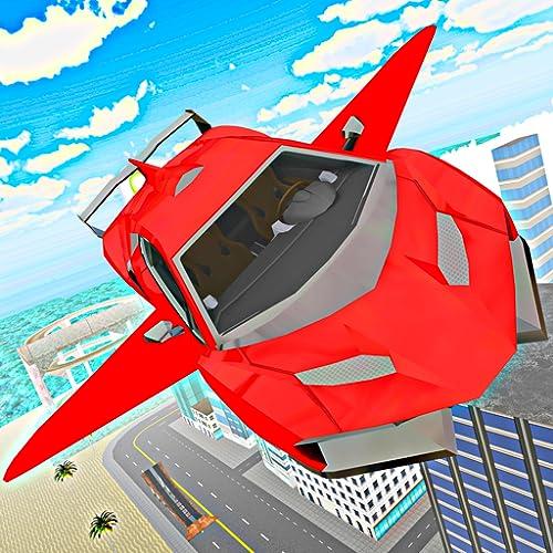 Sports Car Flying - City Driving Flight Simulator