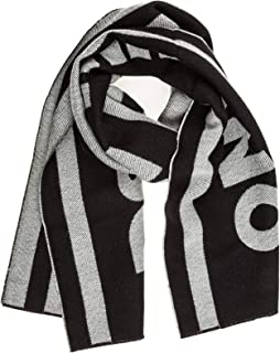 Men's Accessories Dsquared2 Black White Logo Scarf FW 19-20
