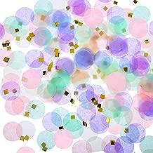 TecUnite Unicorn Confetti 1 Inch Round Tissue Paper Table Confetti Unicorn Party Decoration, 1.76 oz